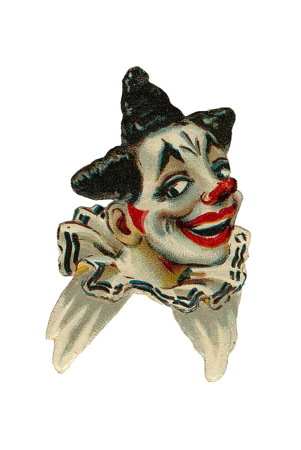 Vintage Clown Digital Art - Flirty by ReInVintaged