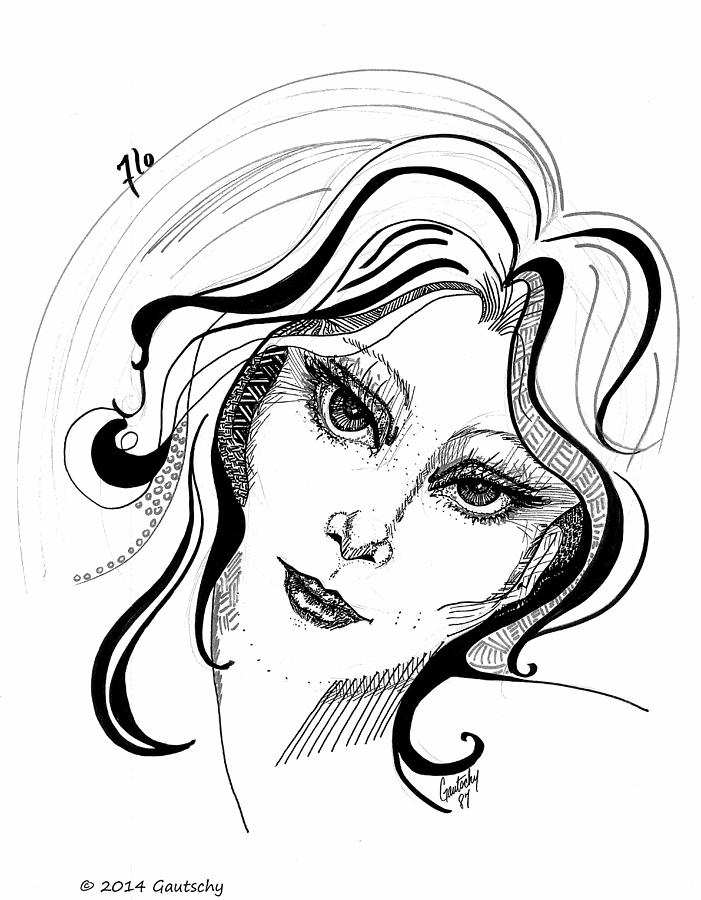Flo drawing by gautschy for How to draw flo