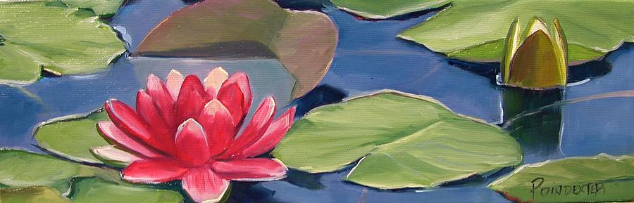 Water Lily Painting - Float by Dianna Poindexter