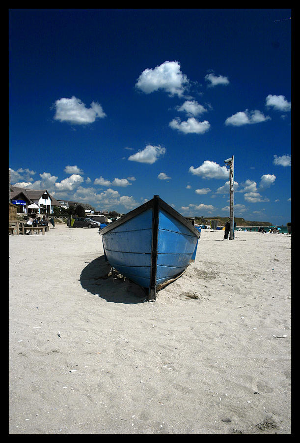 Boat Digital Art - Float On Sand by Mircea Ciurel