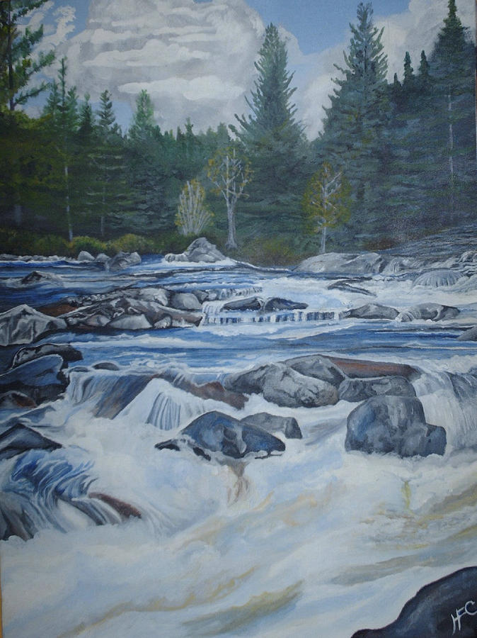 Float Trip Painting by Harvey Copeland