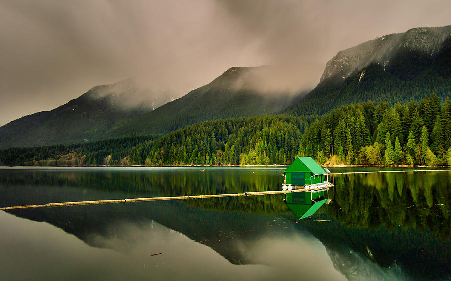 Cabin Photograph - Floating Cabin by Mohsen Kamalzadeh