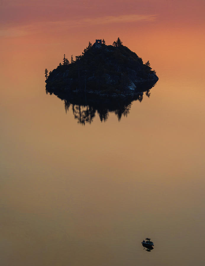Lake Photograph - Floating Castle by Jonathan Hansen
