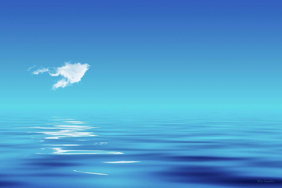 Cloud Photograph - Floating CLoud by Wim Lanclus