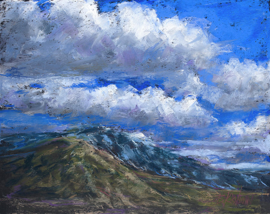 Colorado Landscape Pastel - Floating Clouds by Billie Colson