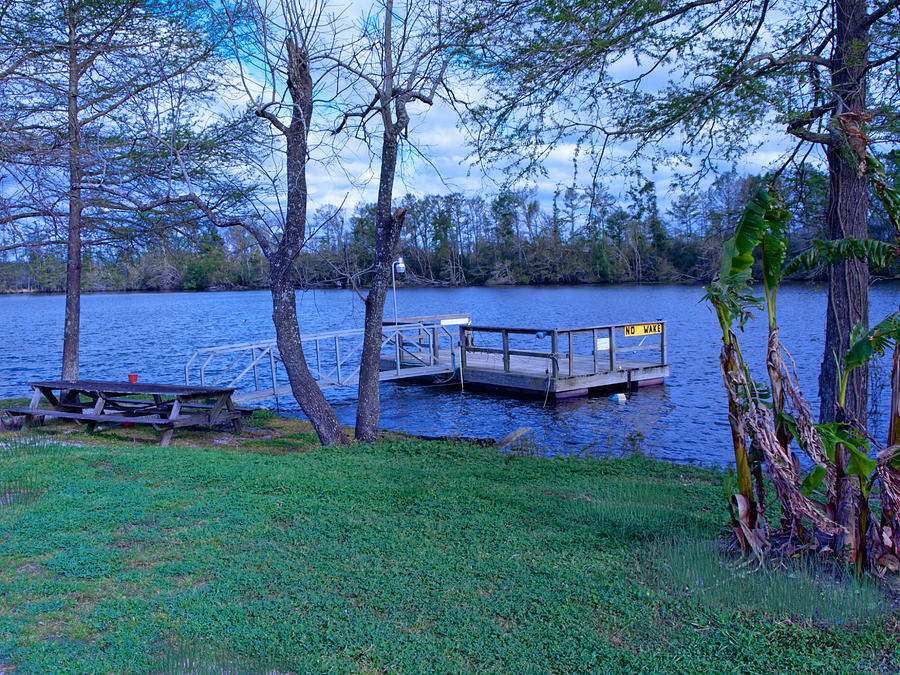 Lake Photograph - Floating Fishing Dock by Bill Perry
