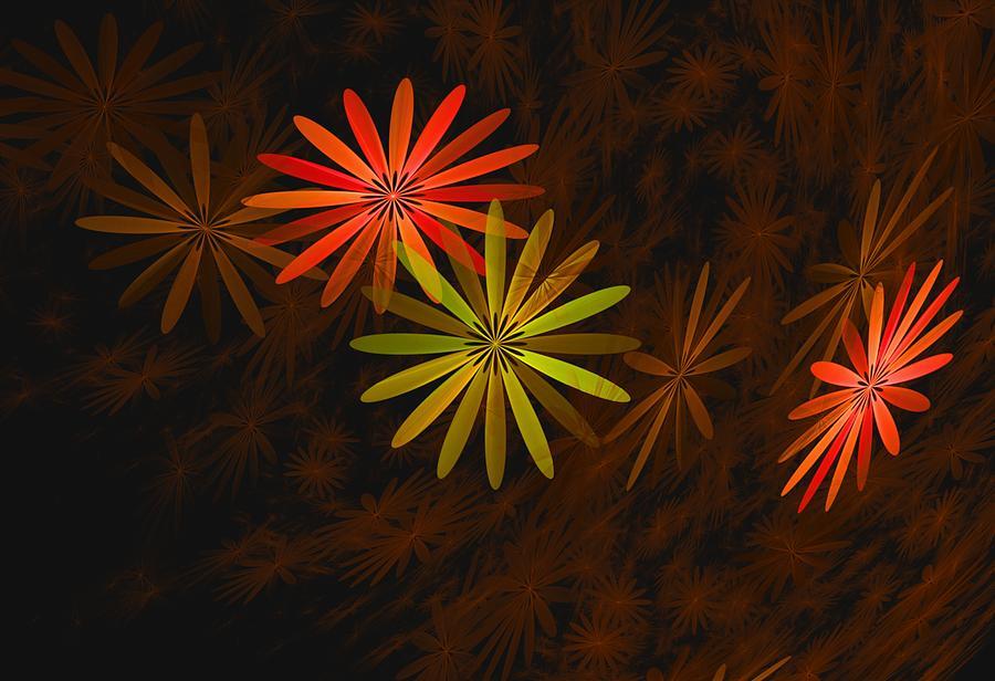 Digital Photography Digital Art - Floating Floral-008 by David Lane