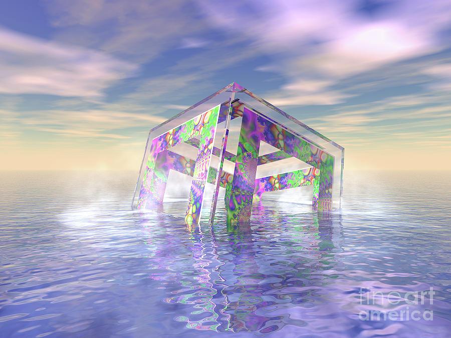 Fractal Digital Art - Floating Fractal by Phil Perkins