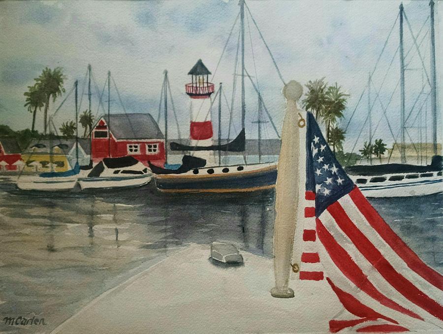 Floating Holiday Oceanside Harbor by M Carlen