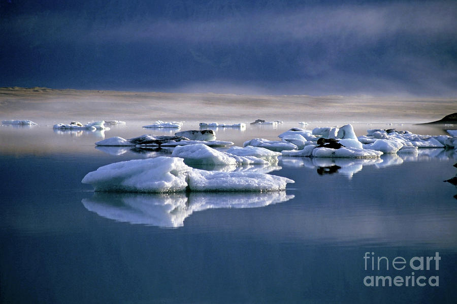 Beautiful Photograph - Floating Icebergs Reflected In The Quiet Waters Of Jokulsarlon by Sami Sarkis