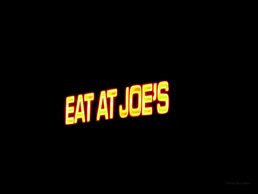 Floating Photograph - Floating Neon - Eat At Joes by Deborah  Crew-Johnson