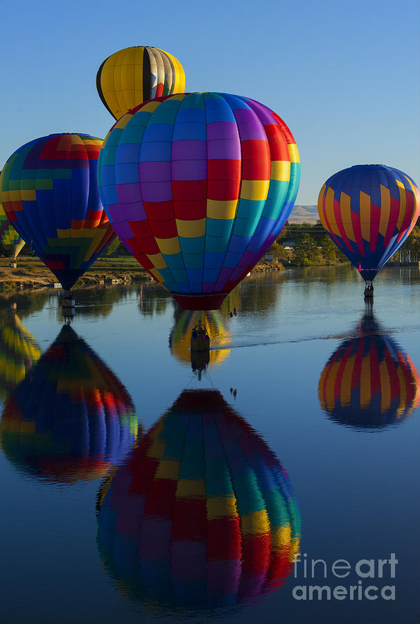 Balloons Photograph - Floating Reflections by Mike Dawson