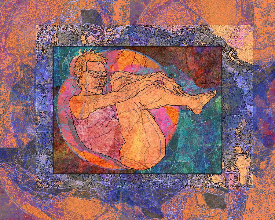Woman Digital Art - Floating Woman by Mary Ogle