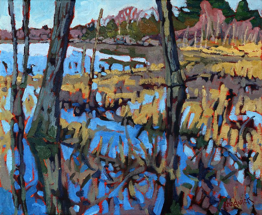 Nature Painting - Flooded Land by Phil Chadwick