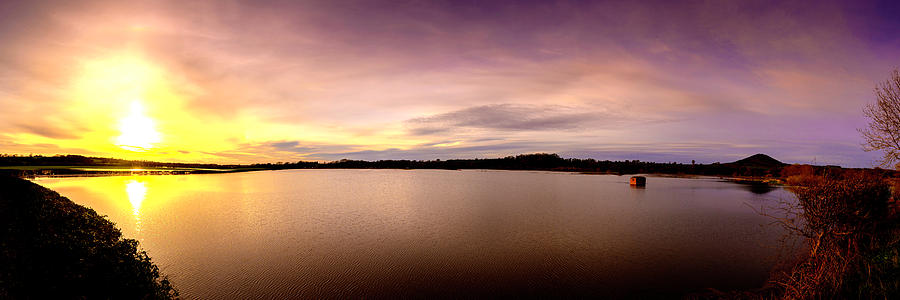 River Photograph - Flooded Sunset by Steve Elliott