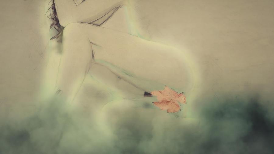 Erotic Mixed Media - Flor by Ivan Gomez