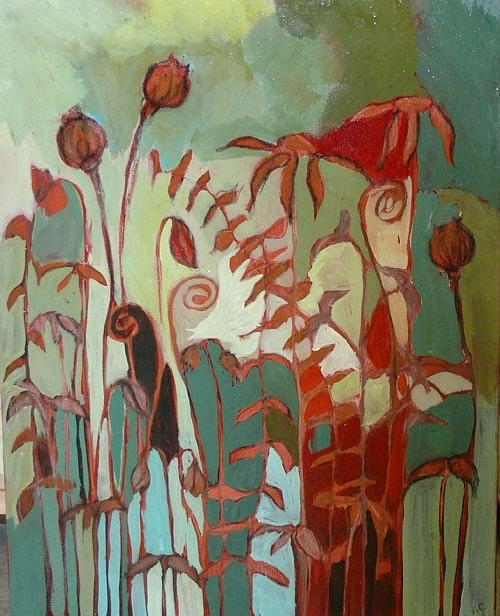 Floral Painting - Flora 2 by Alicia Chatham