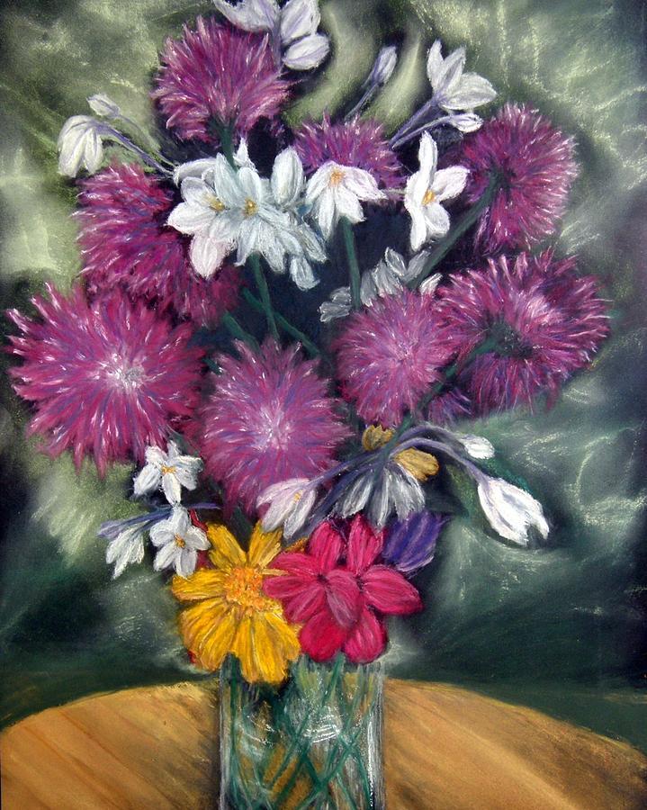 Flowers Pastel - Flora Aura   Pastel by Antonia Citrino