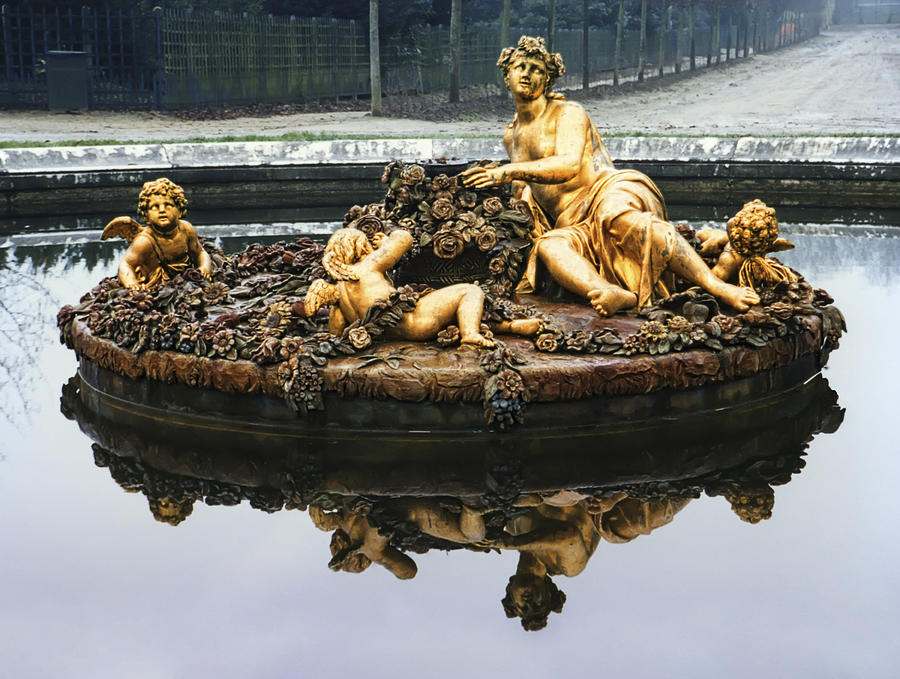 Versailles Photograph - Flora Fountain - Palace Of Versailles by Daniel Hagerman