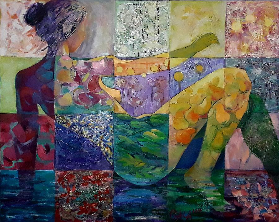 Flora Painting - Flora by GALA Koleva