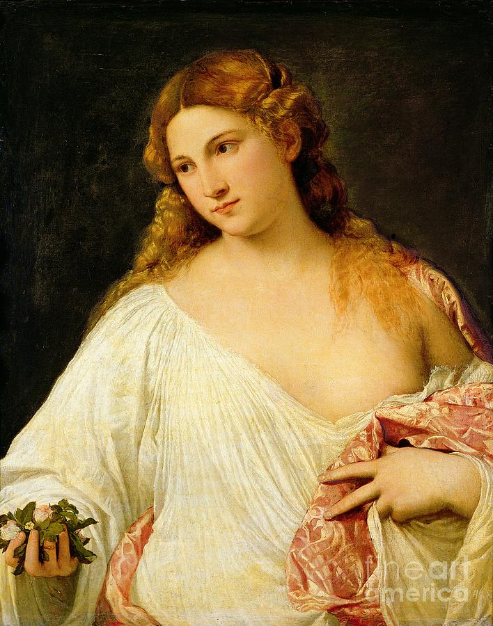 Flora Painting - Flora by Titian