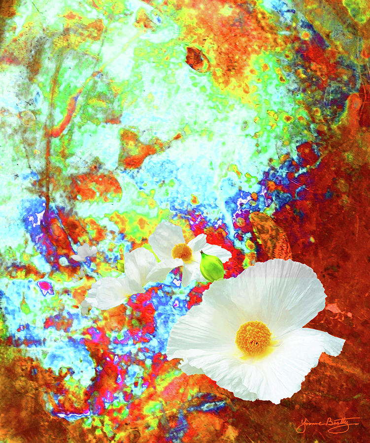 Floral Digital Art - Flora by Yvonne Beatty