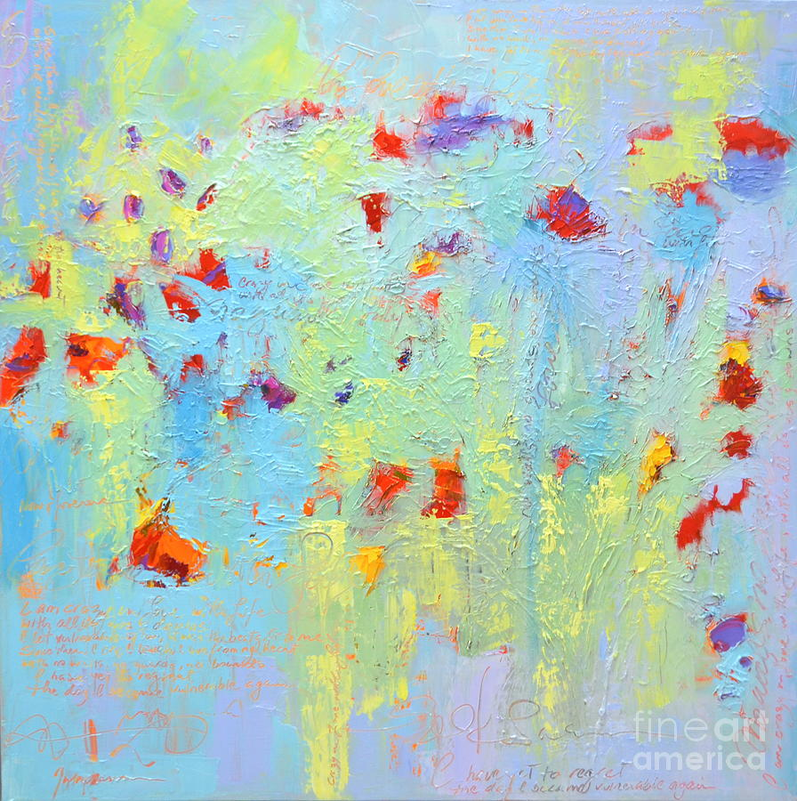 Floral Abstract Coloful Painting by Patricia Awapara