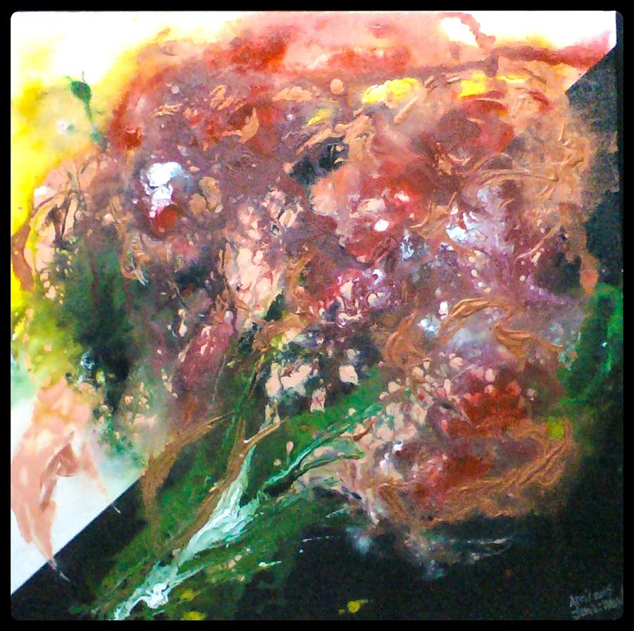 Original Painting - Floral Abstract by Jan Wendt