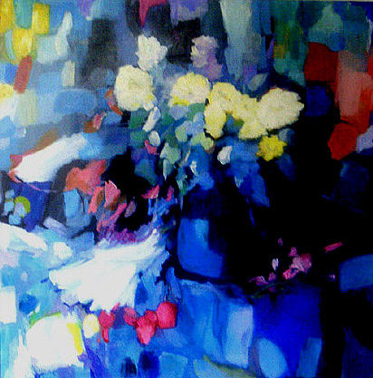Still Life Painting - Floral Abstraction by Larry Burke