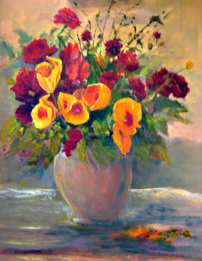 Floral Painting - Floral Bouquet by Jimmie Trotter