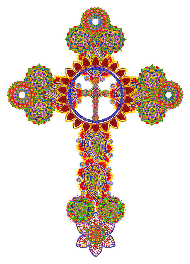 Cross Photograph - Floral Celtic Cross  by Aleksandr Volkov