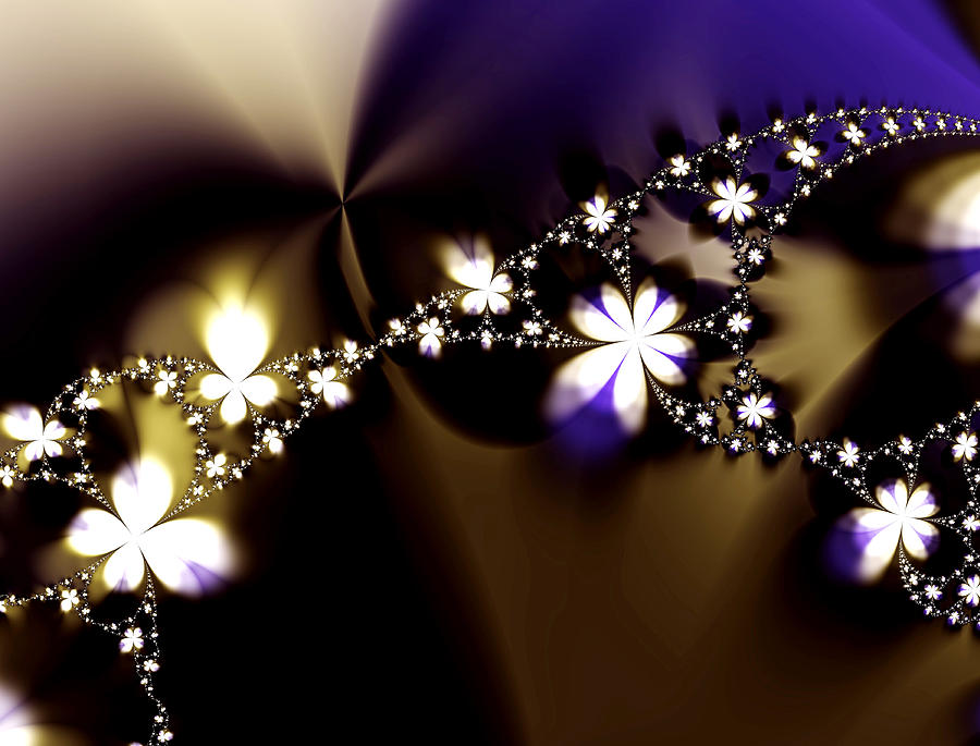 Flower Digital Art - Floral Chain by Lisa Ewing