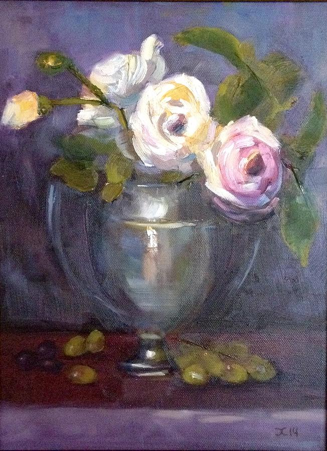 Floral Painting by Cynthia Mozingo
