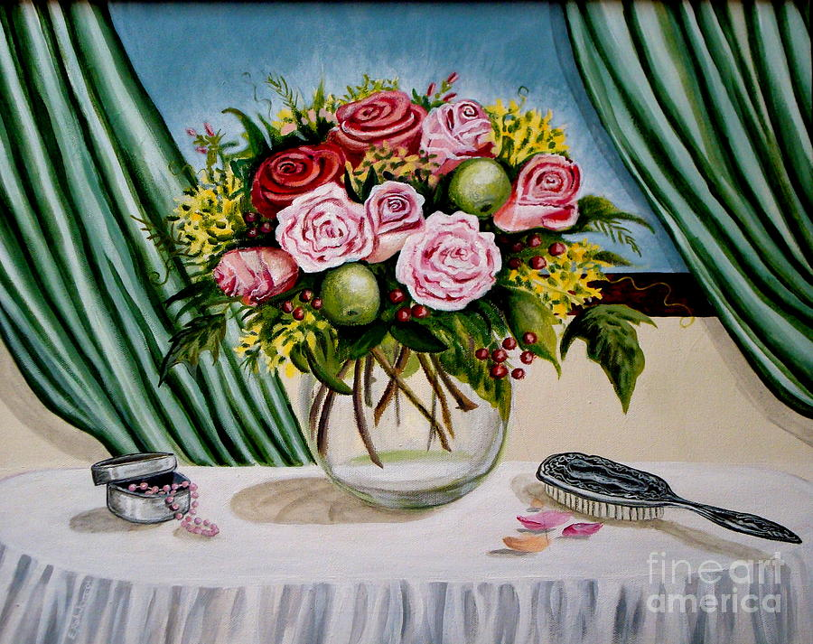 Floral Painting - Floral Essence by Elizabeth Robinette Tyndall