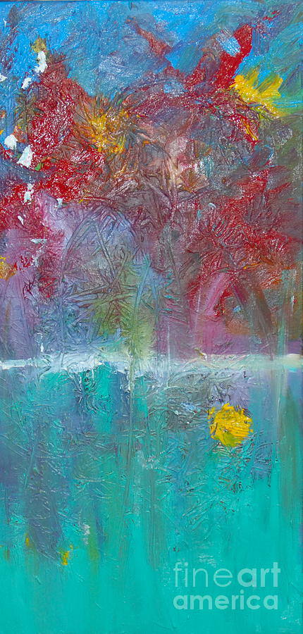 Abstract Flowers Painting - Floral Explosion by Maria Curcic