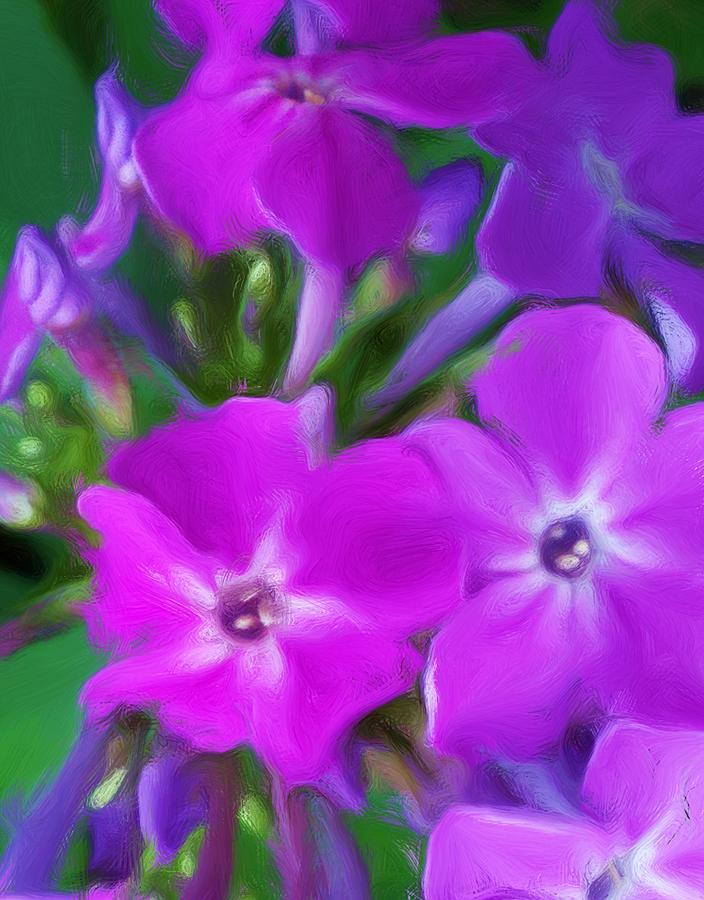 Floral Digital Art - Floral Expression 2 021911 by David Lane