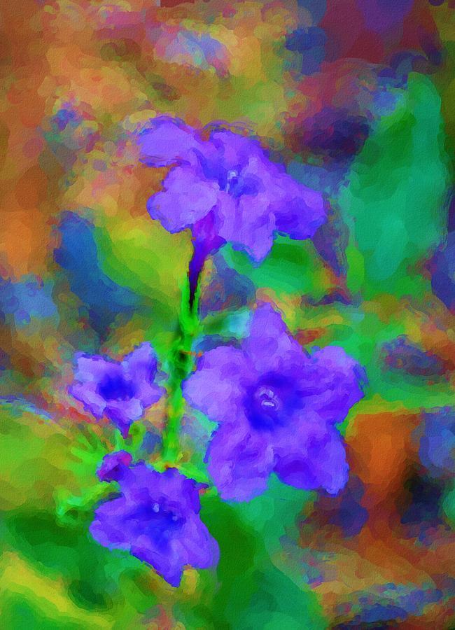 Floral Digital Art - Floral Expression by David Lane