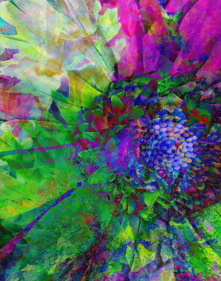 Flower Mixed Media - Floral Expressions I by Ricki Mountain