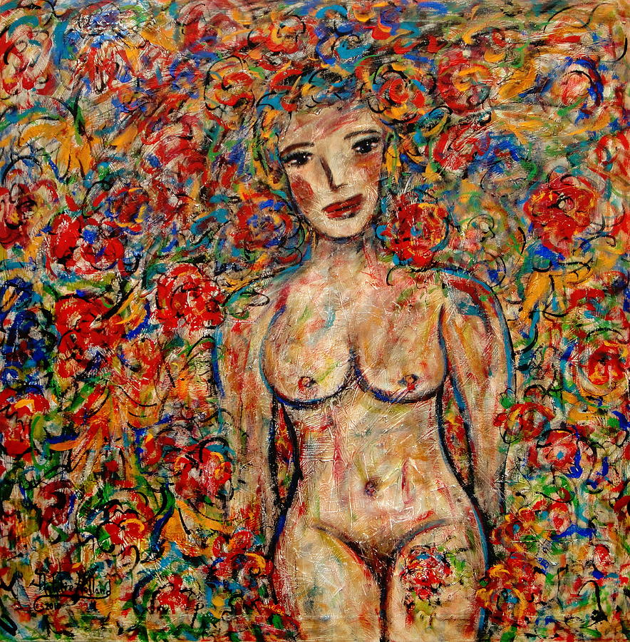 Nude Painting - Floral Fantasy by Natalie Holland