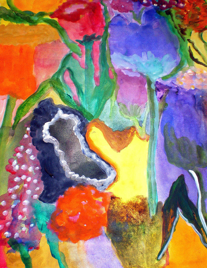 Floral Fantasy2 Painting by Patricia Fragola