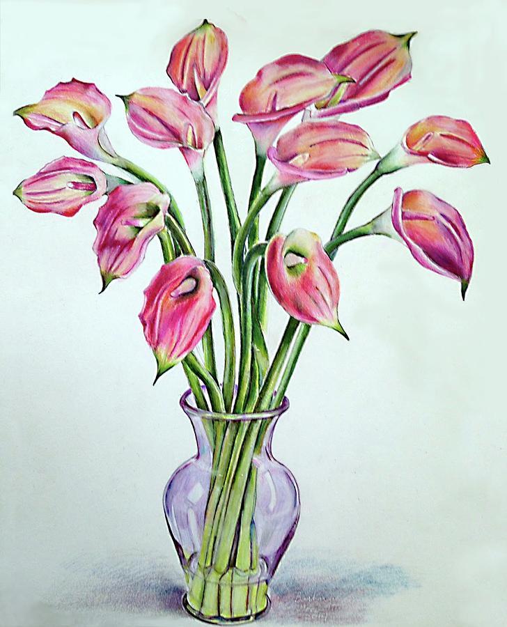 Still Life Painting - Floral Fireworks by Barbara Goodsitt