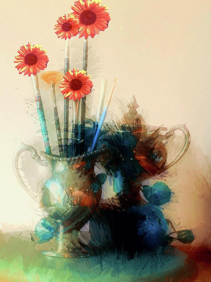 Floral Digital Art - Floral Frenzy by Krista Droop