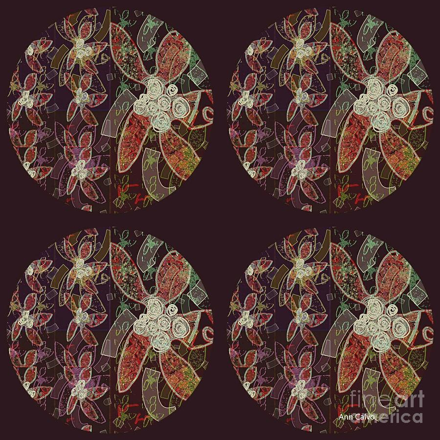 Flower Mixed Media - Floral Fun by Ann Calvo