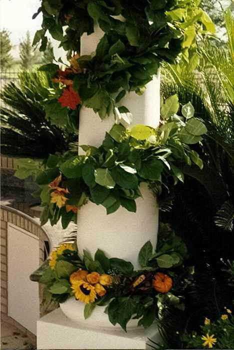 Floral Designer Sculpture - Floral Garland by Janet Gioffre Harrington
