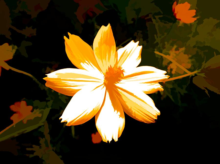 Digital Art Mixed Media - Floral In Yellow by Debra Lynch