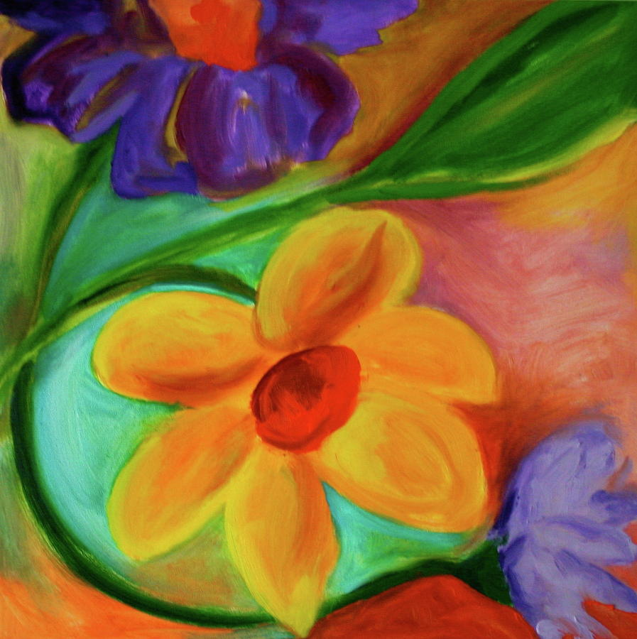 Floral Managerie Painting by Martha Layton Smith