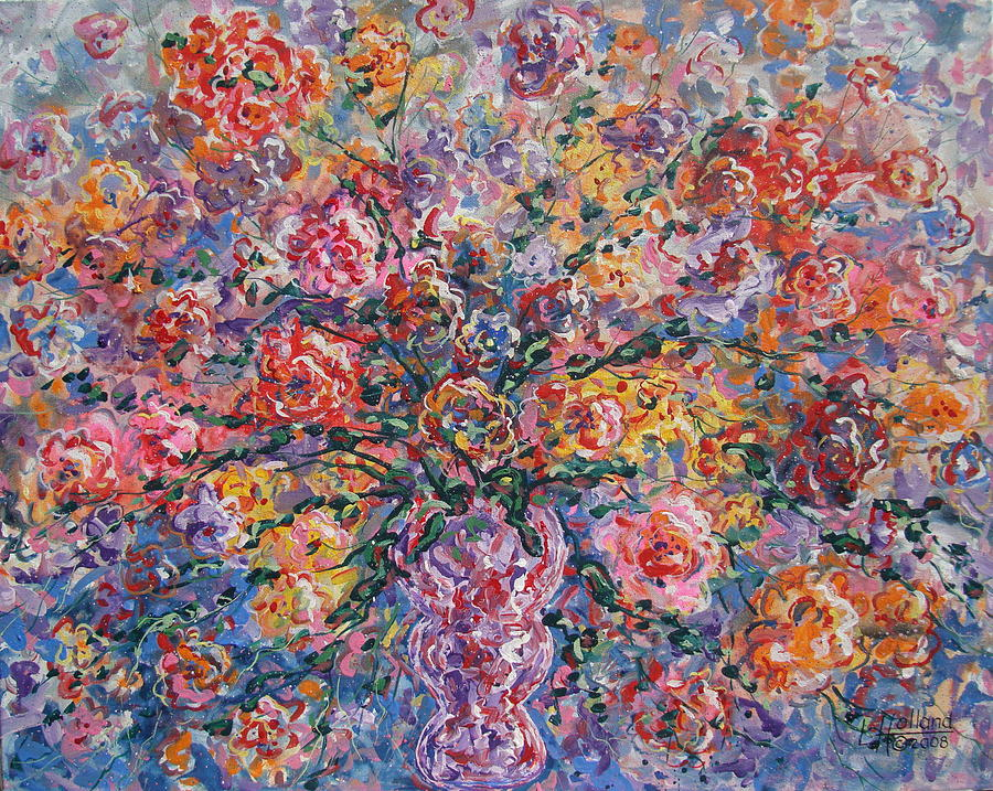 Flowers Painting - Floral Melody by Leonard Holland
