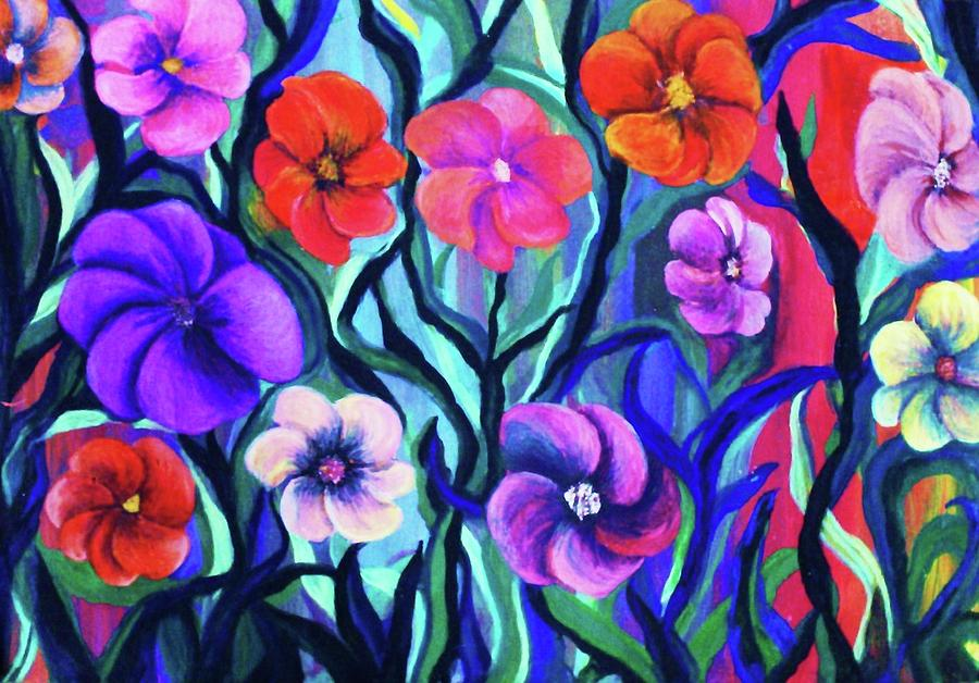 Flowers Painting - Floral No. 1 by Jeanette Stewart