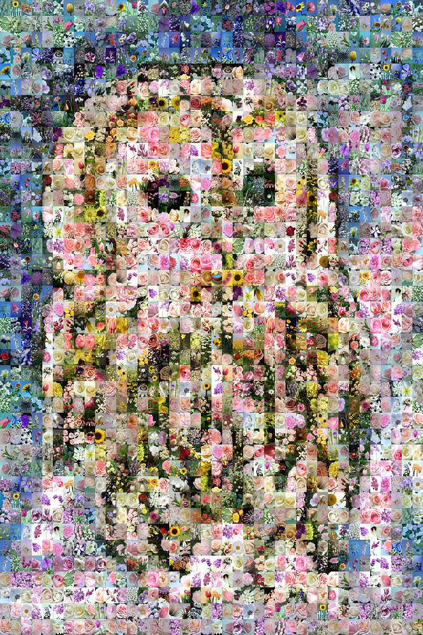 Mosaic Digital Art - Floral Owl by Gilberto Viciedo