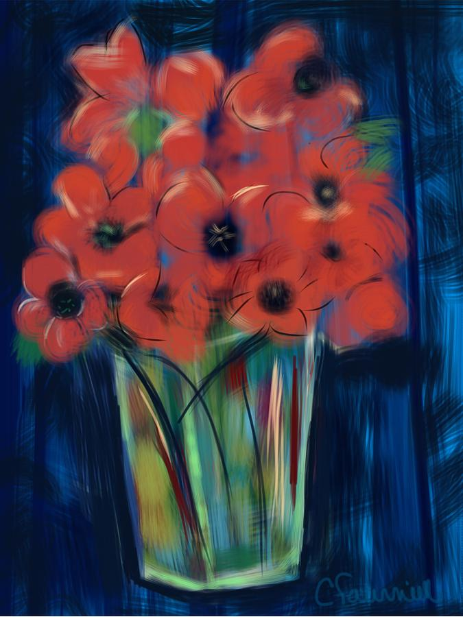 Floral Poppies by Christine Fournier